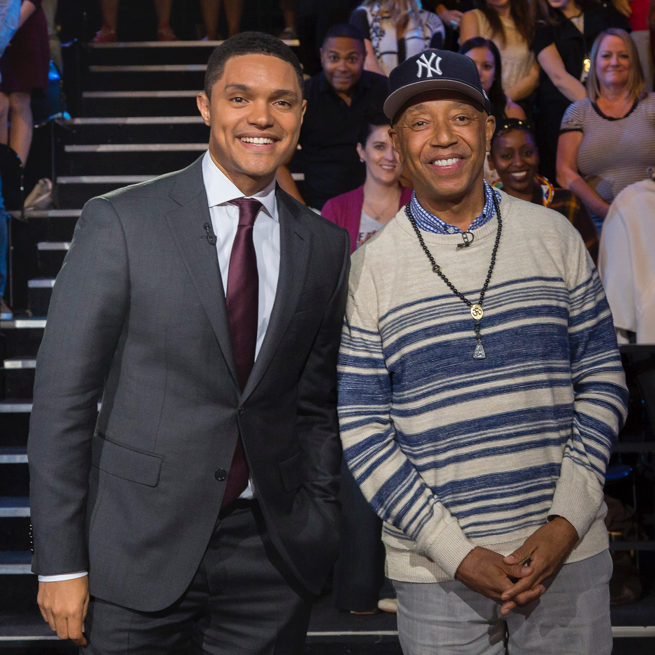 Trevor Noah interviews Russell on the Daily Show