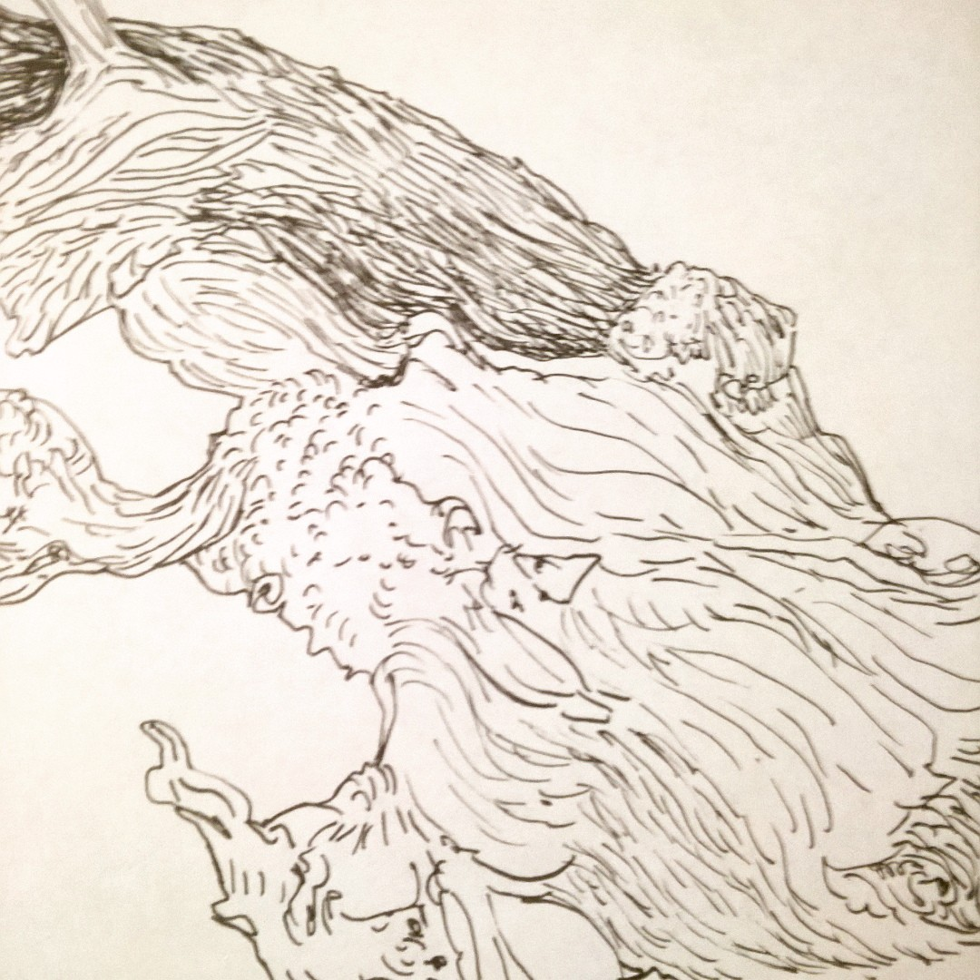 Mesquite Tree Drawing