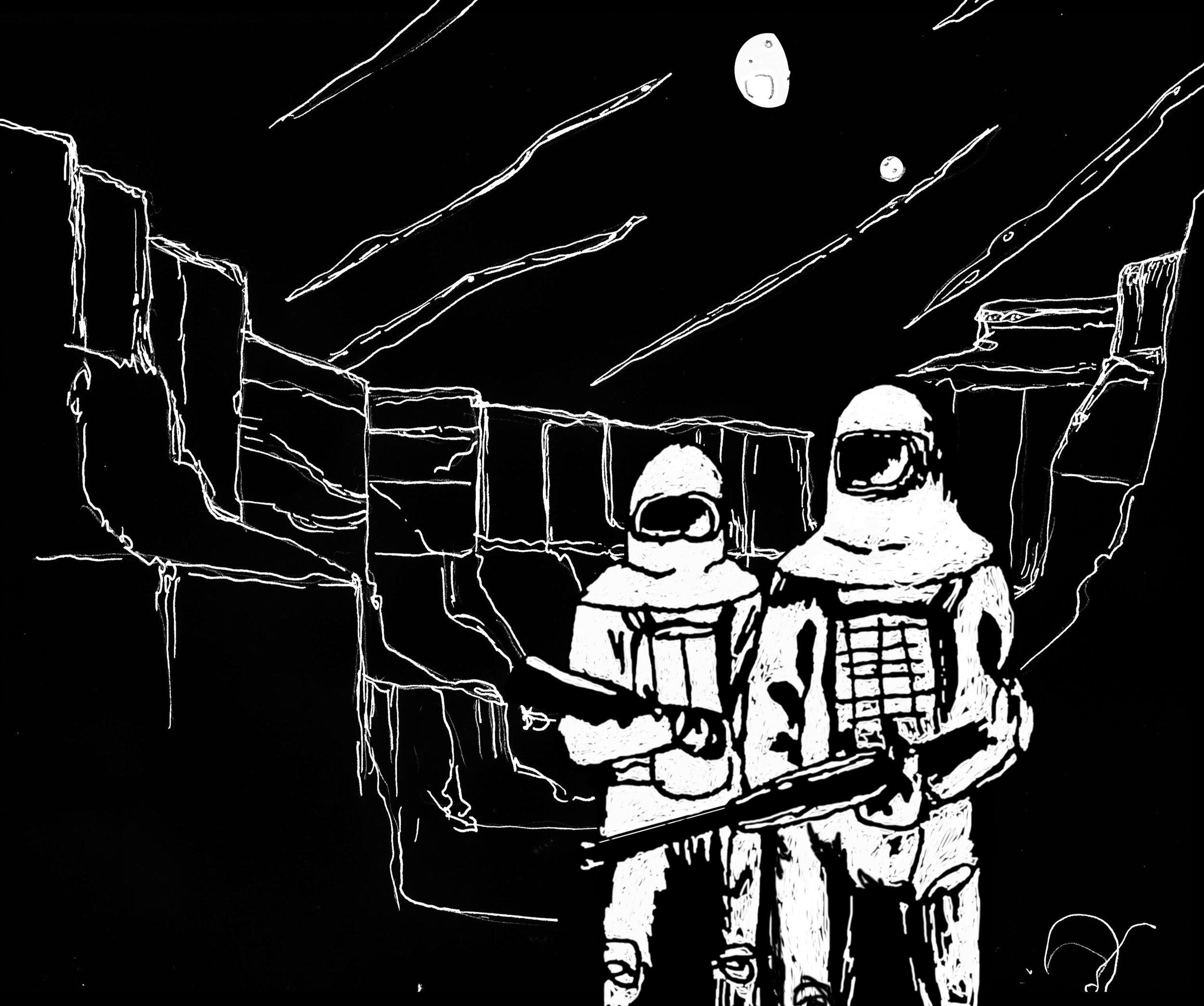 paysage + cosmonautes NB.jpg