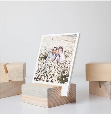 Wood Block with twelve 5x5 archival prints
