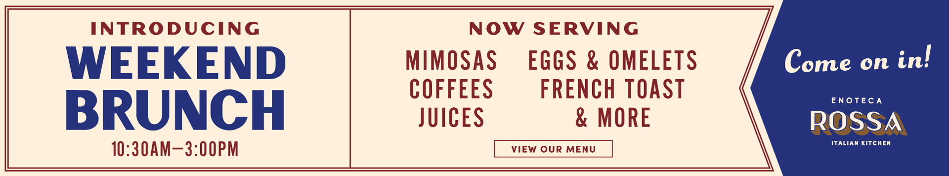 Enoteca Rossa Best Brunch Houston Italian Mimosas Bellaire