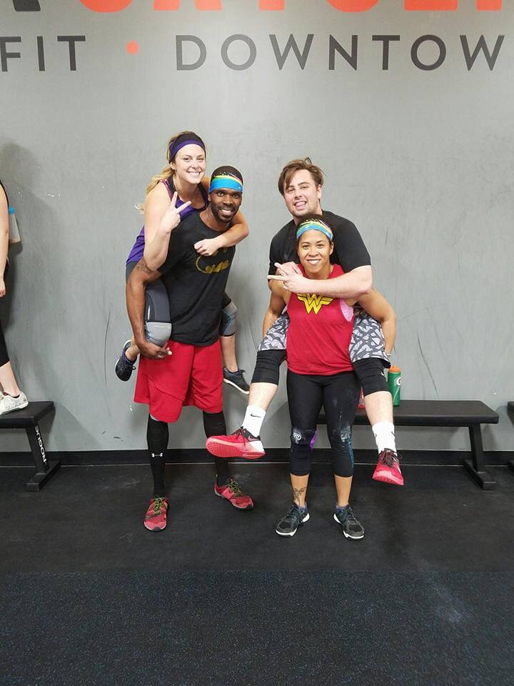 Zach on the right with his team, The Snatching Unicorns at the Iron Legacy Charity Competition
