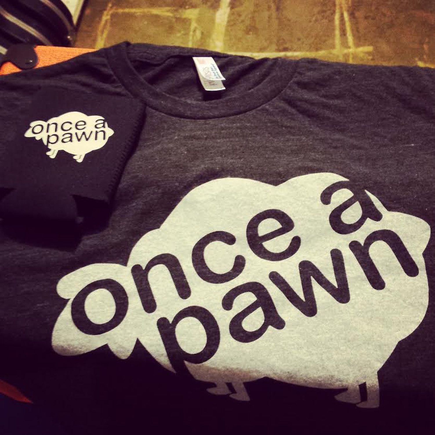 Once a Pawn tshirts, comfy American Apparel triblends, and kookzies.