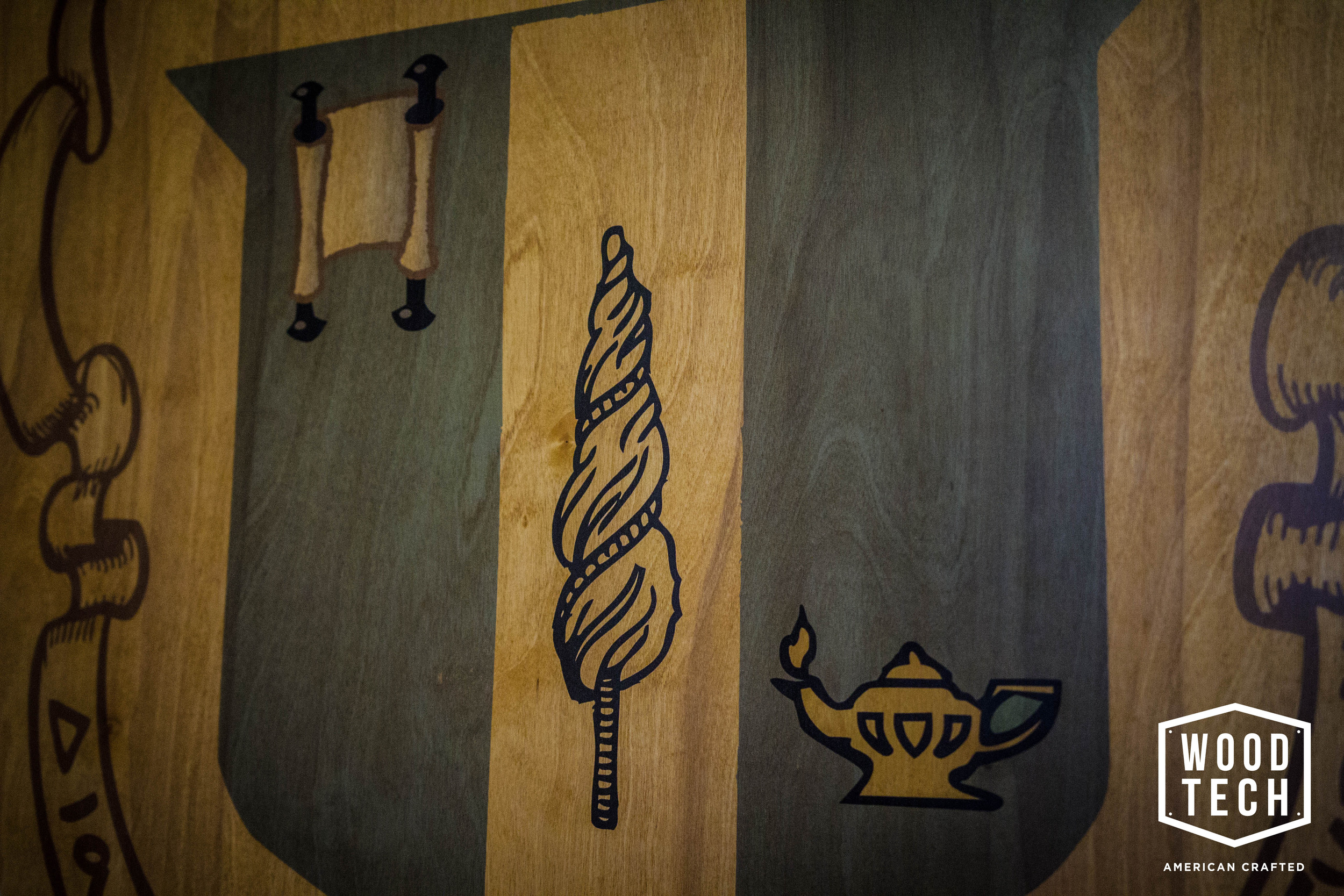 Routed Wood Sign for Sorority
