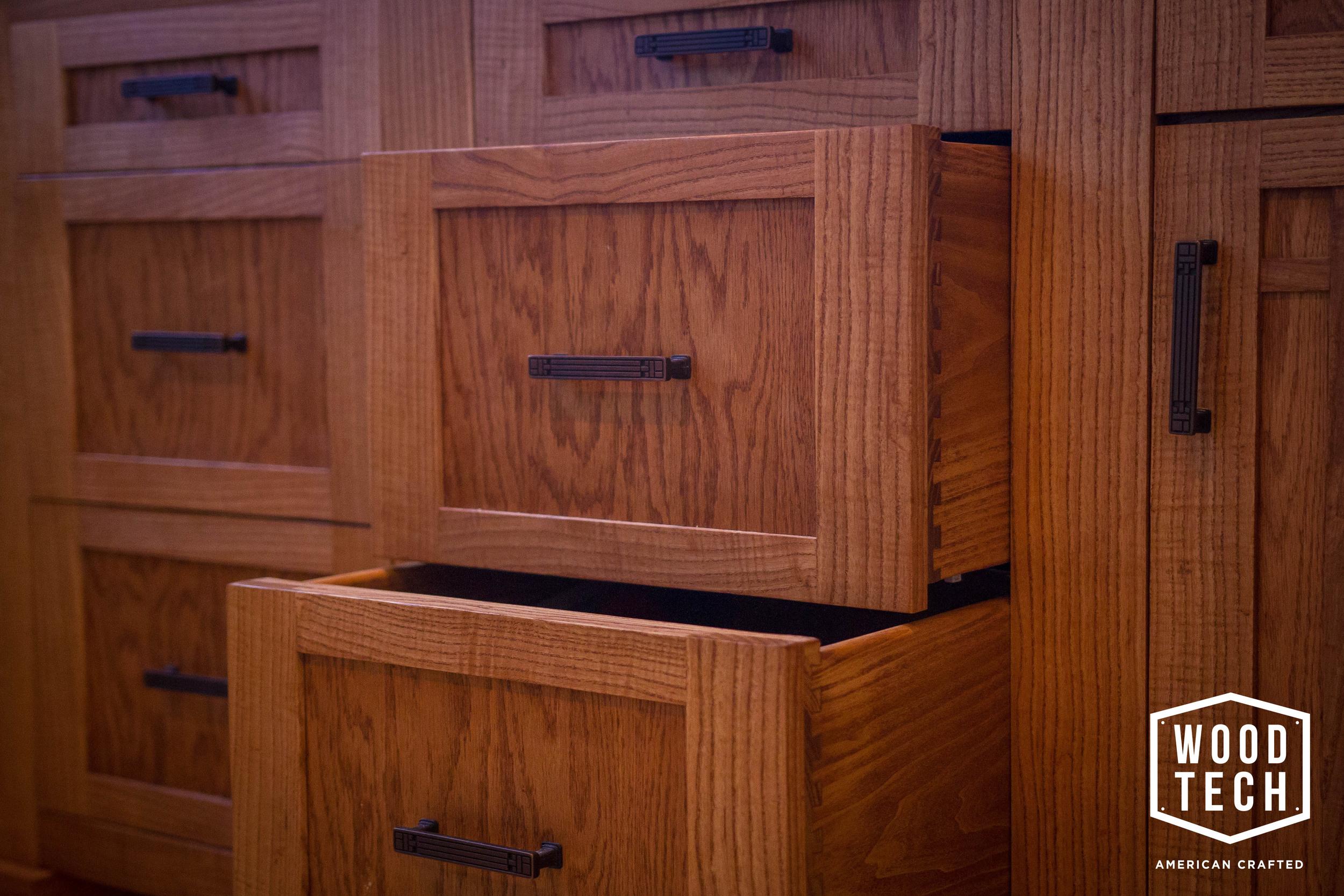 Custom Wood Cabinets Draw Detail