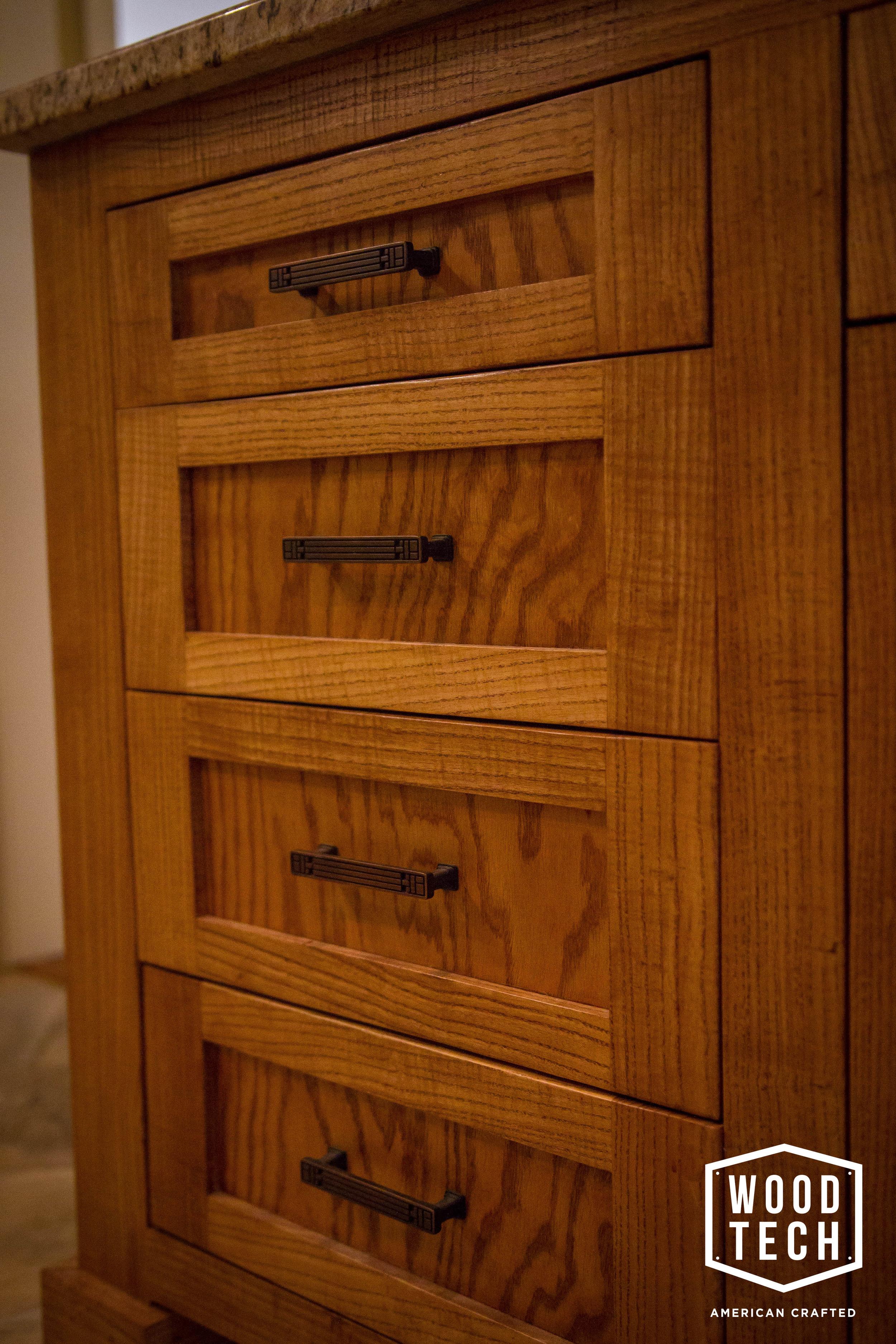 Custom Wood Cabinets Drawer Detail 2