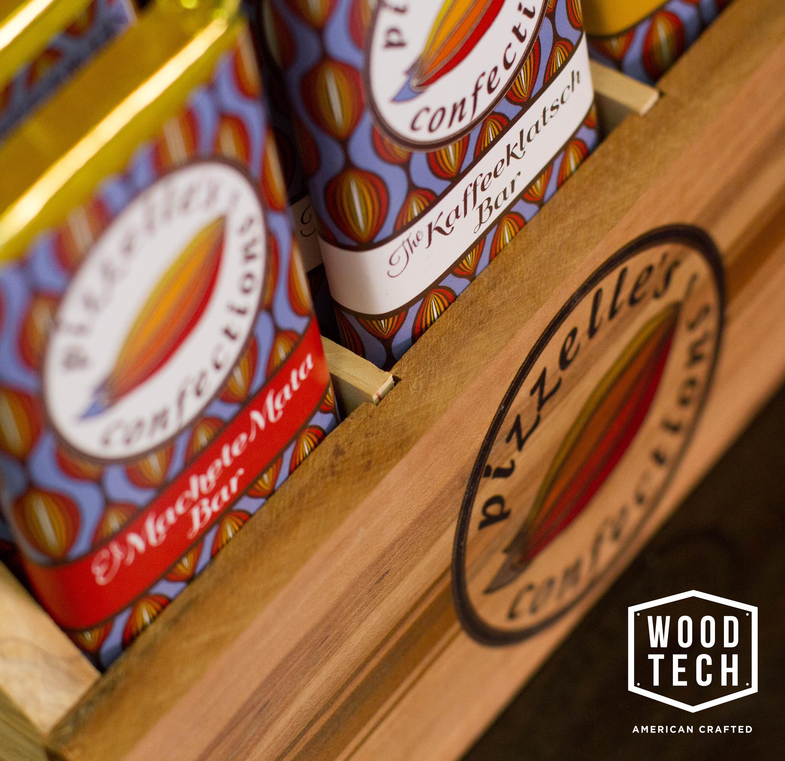 Custom Wood Product Display Stand