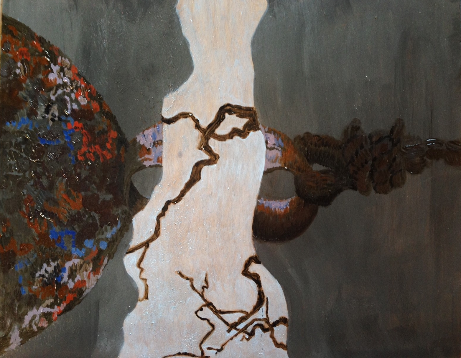 """""""Air and Earth"""" (2015). Oil on primed wooden panel."""