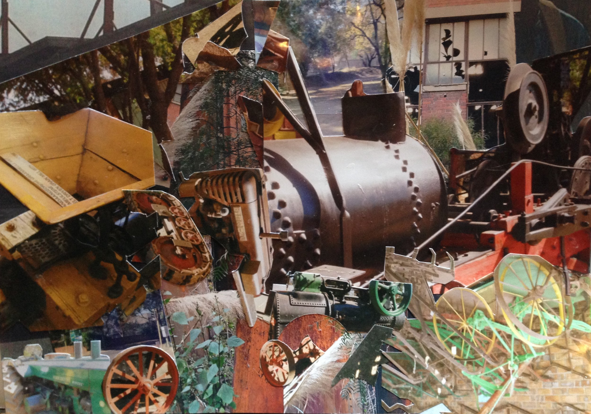 Agricultural Museum II (2014). Collage. A3