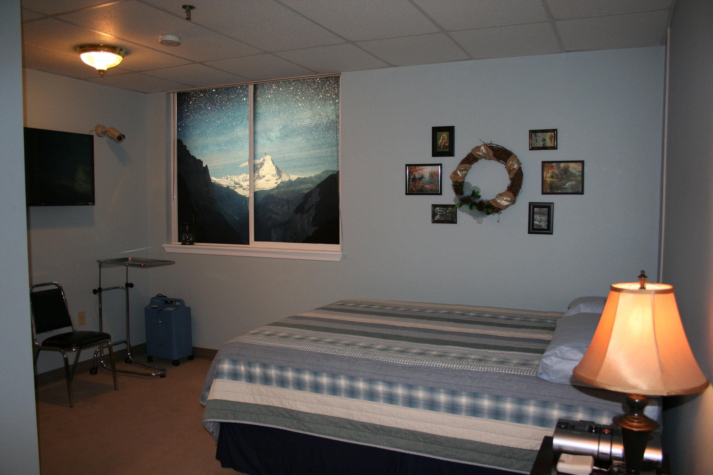 """Our """"Cozy Cabin"""" themed Sleep Room!"""