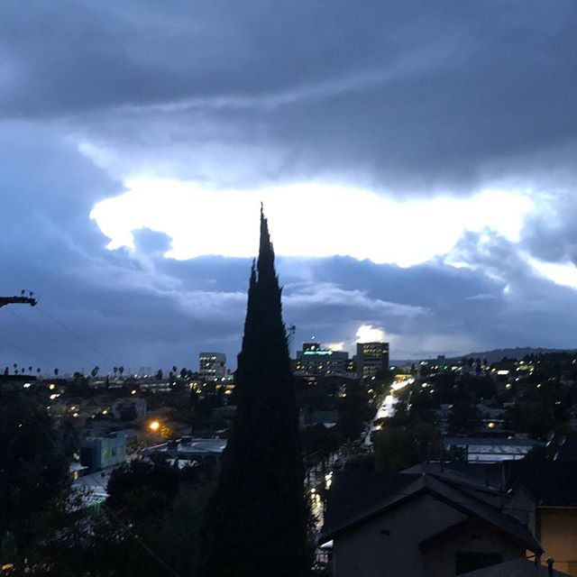 No Filter! #franklinhills #losfeliz #rain #sky