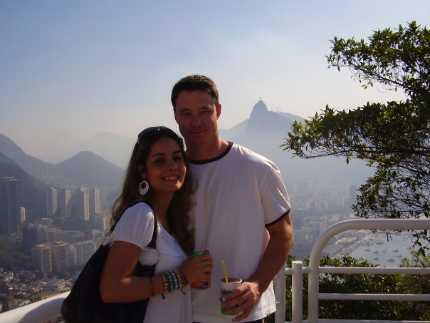 My husband and I in Rio in 2007