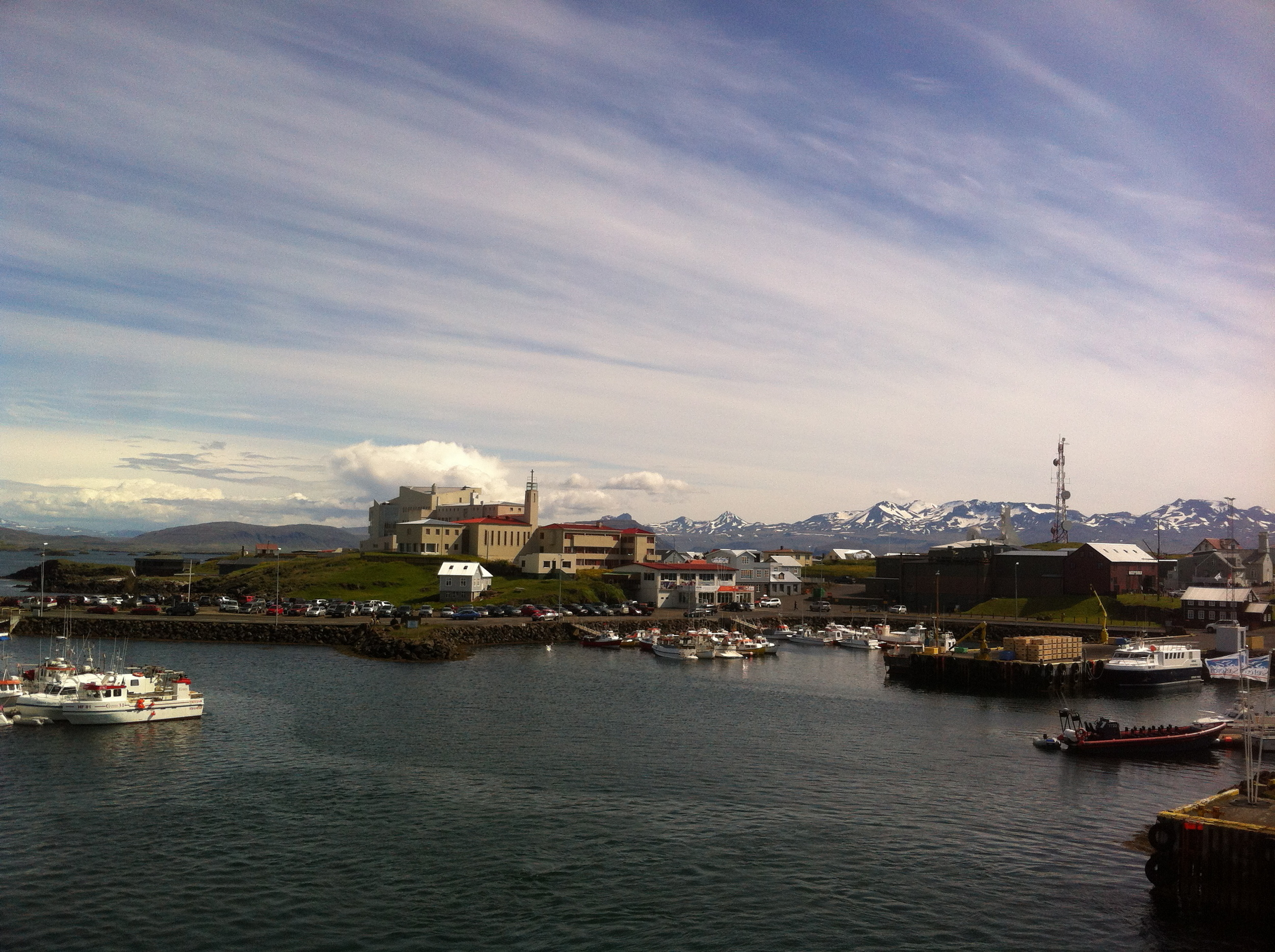 Onboard the ferry leaving mainland Iceland.