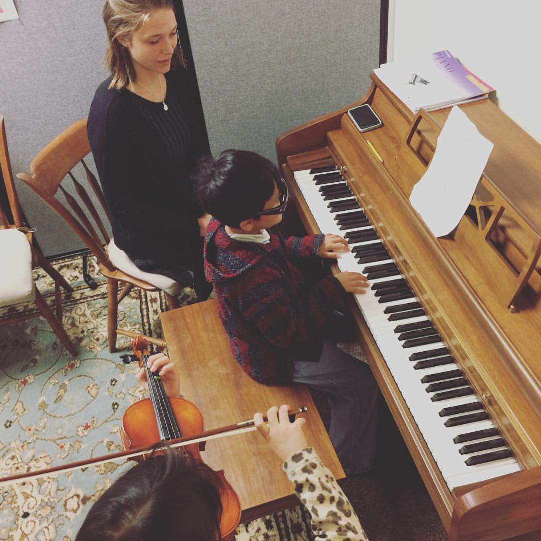 Students practice in our first space on Lehman Avenue