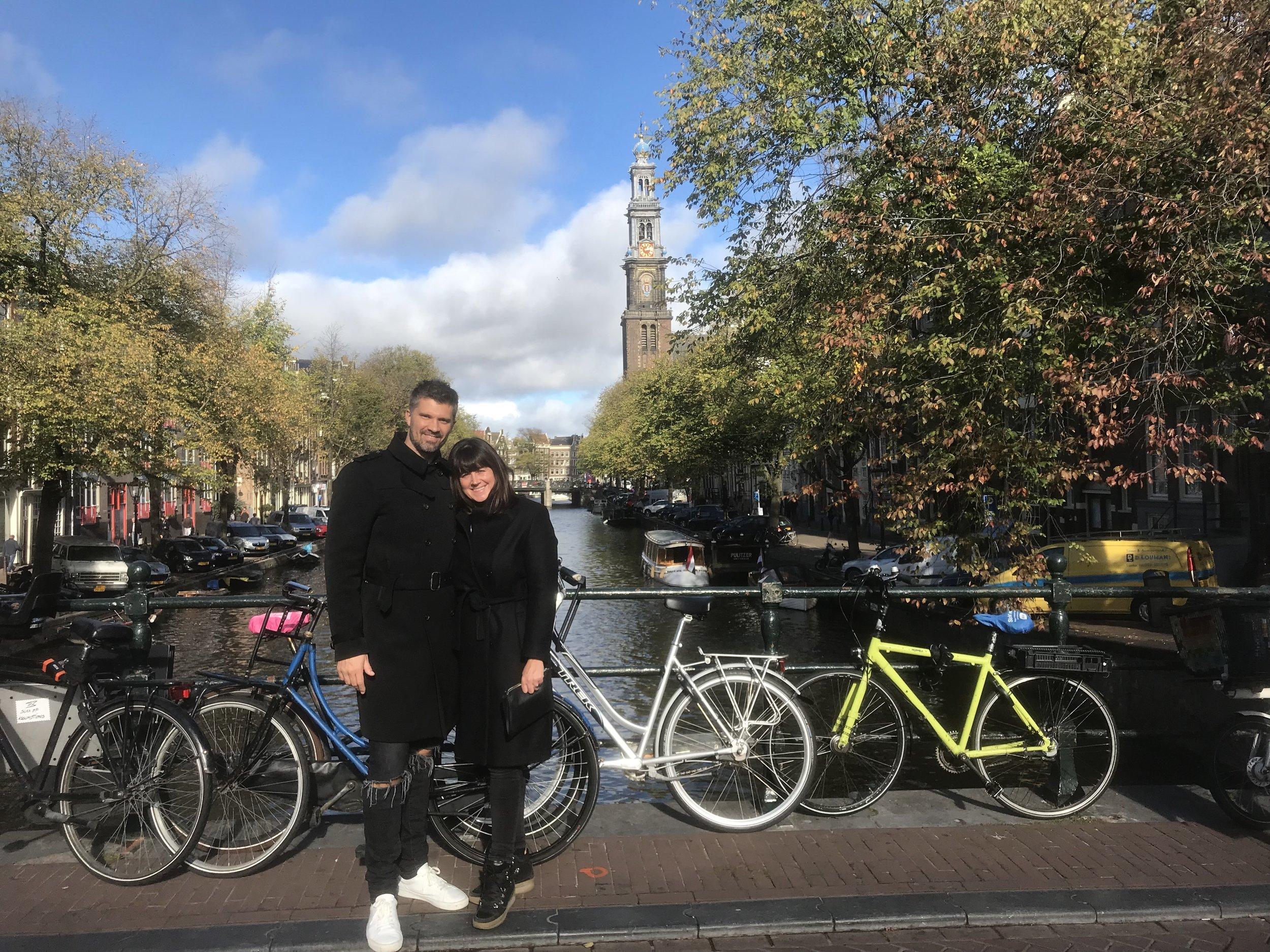 Litt sightseeing ble det over Amsterdams sine vakre broer og kanaler.