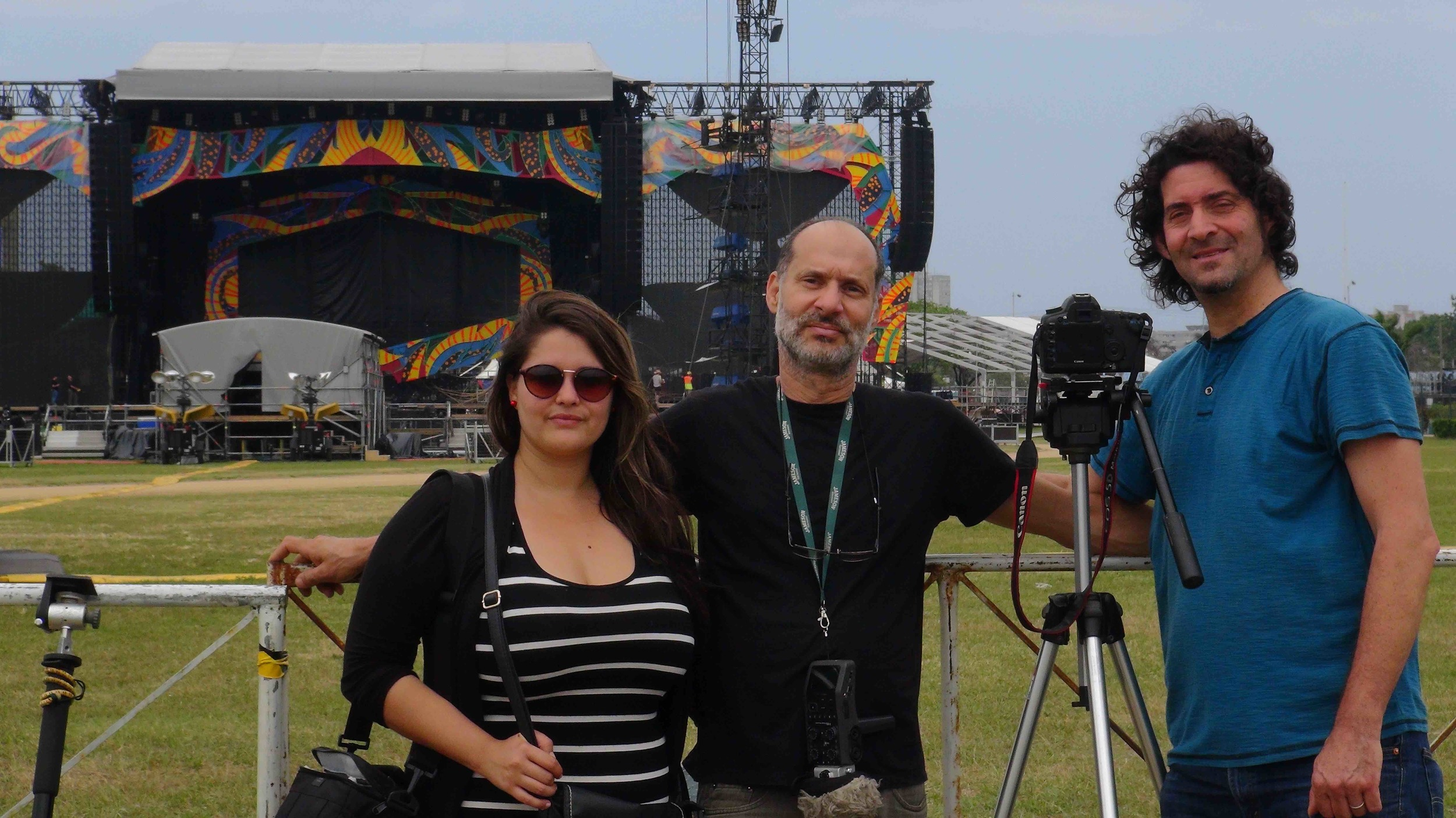 "Ken, our field producer, Claudia Bueno, and our sound recordist, Javier ""Figa"" Figueroa."