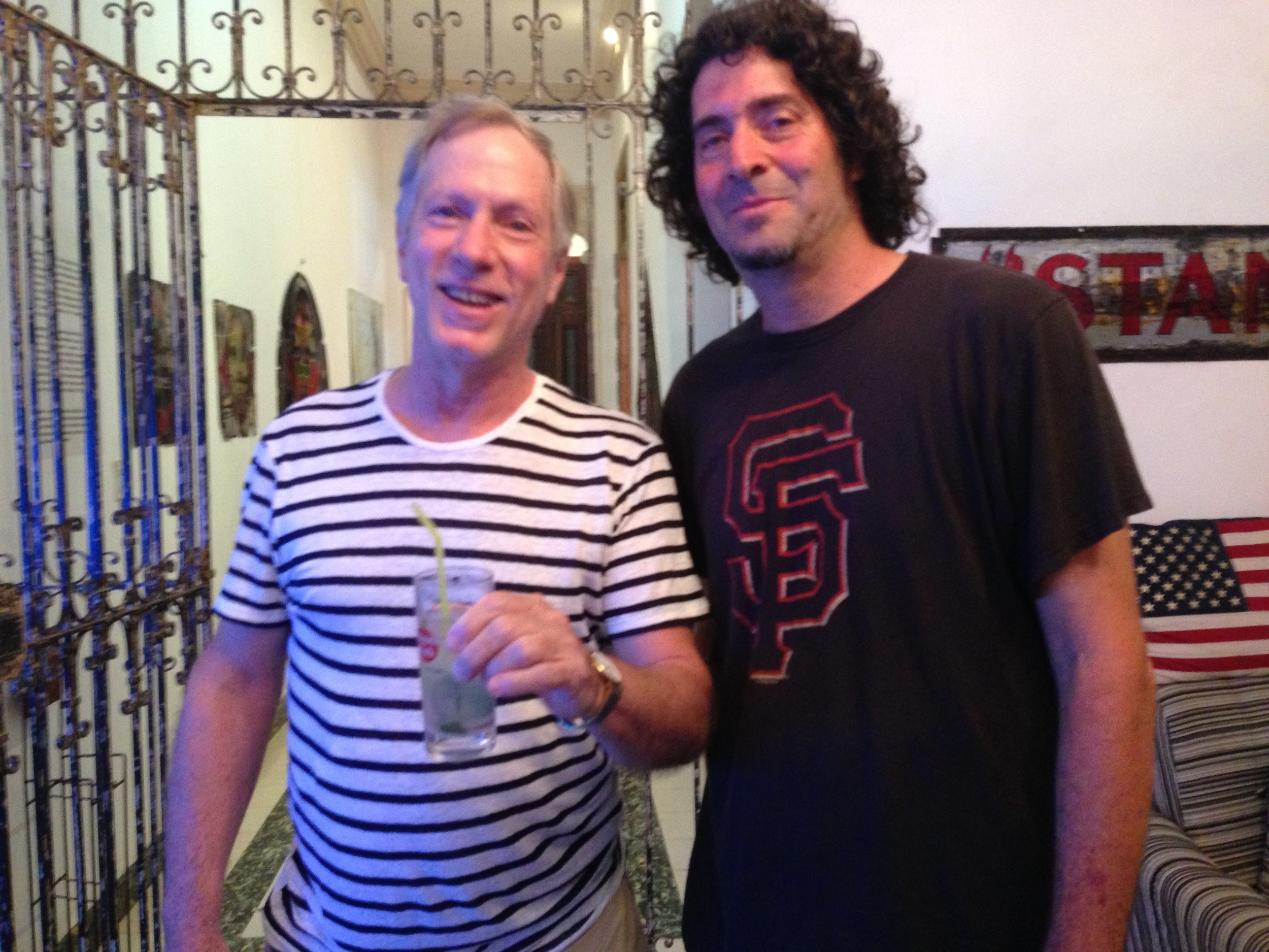 Ken with Ernan López, jazz pianist and father of our series composer, Harold López-Nussa .