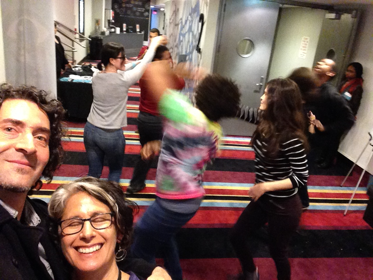 An inspired audience takes the dancing off the screen and into the theater lobby at the Havana New York Film Festival, where WHEEL OF LIFE previewed.