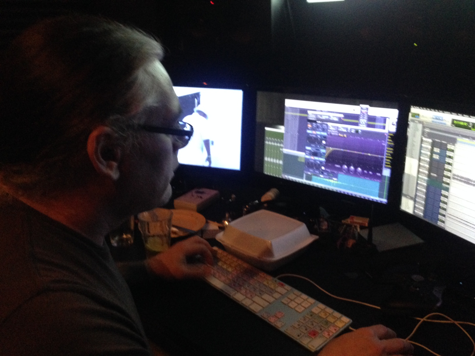 Mixing sound for WHEEL OF LIFE with the remarkably talented Will Storkson.