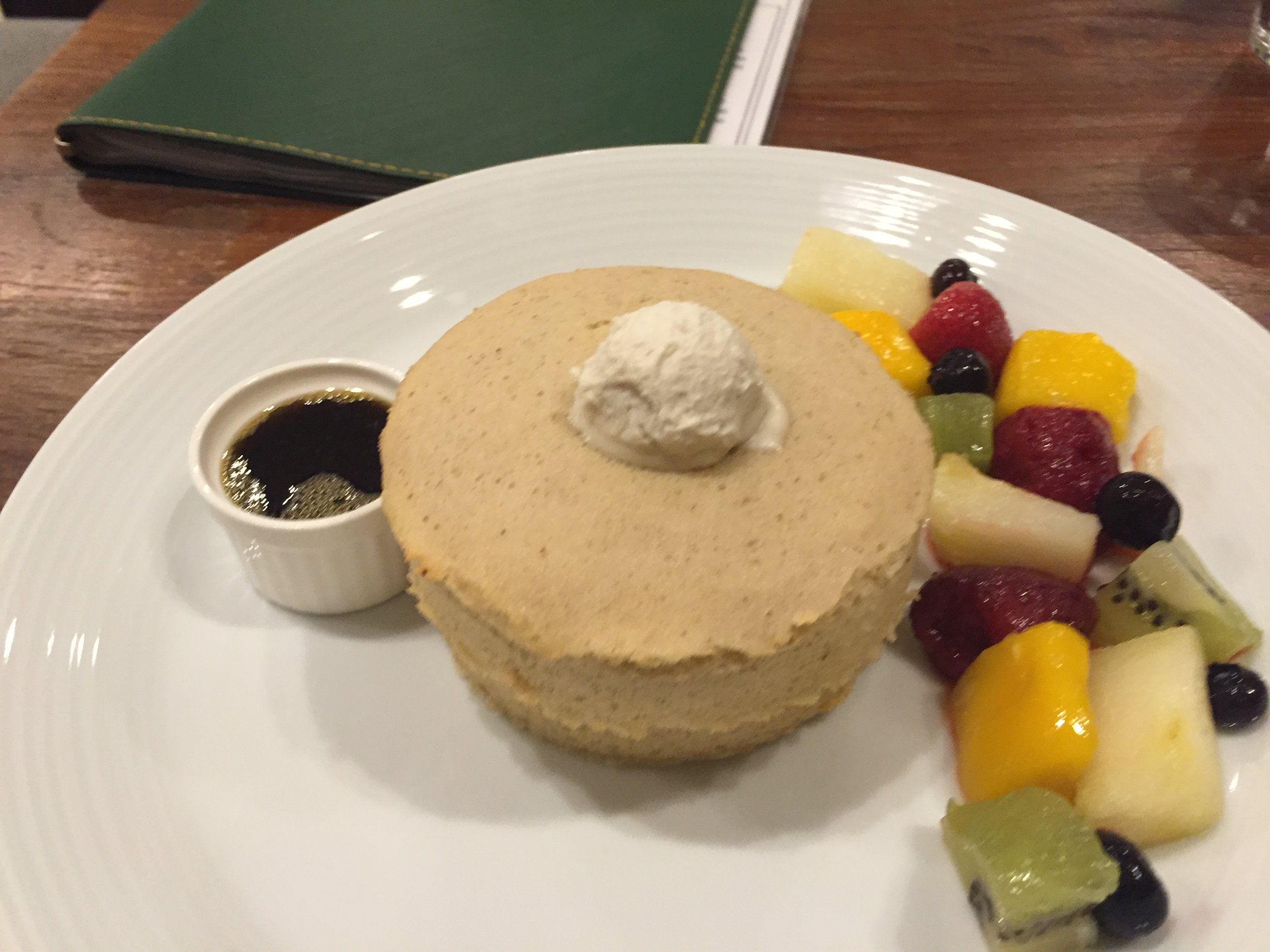 vegan and gluten-free pancakes at Choice Cafe in Kyoto Japan