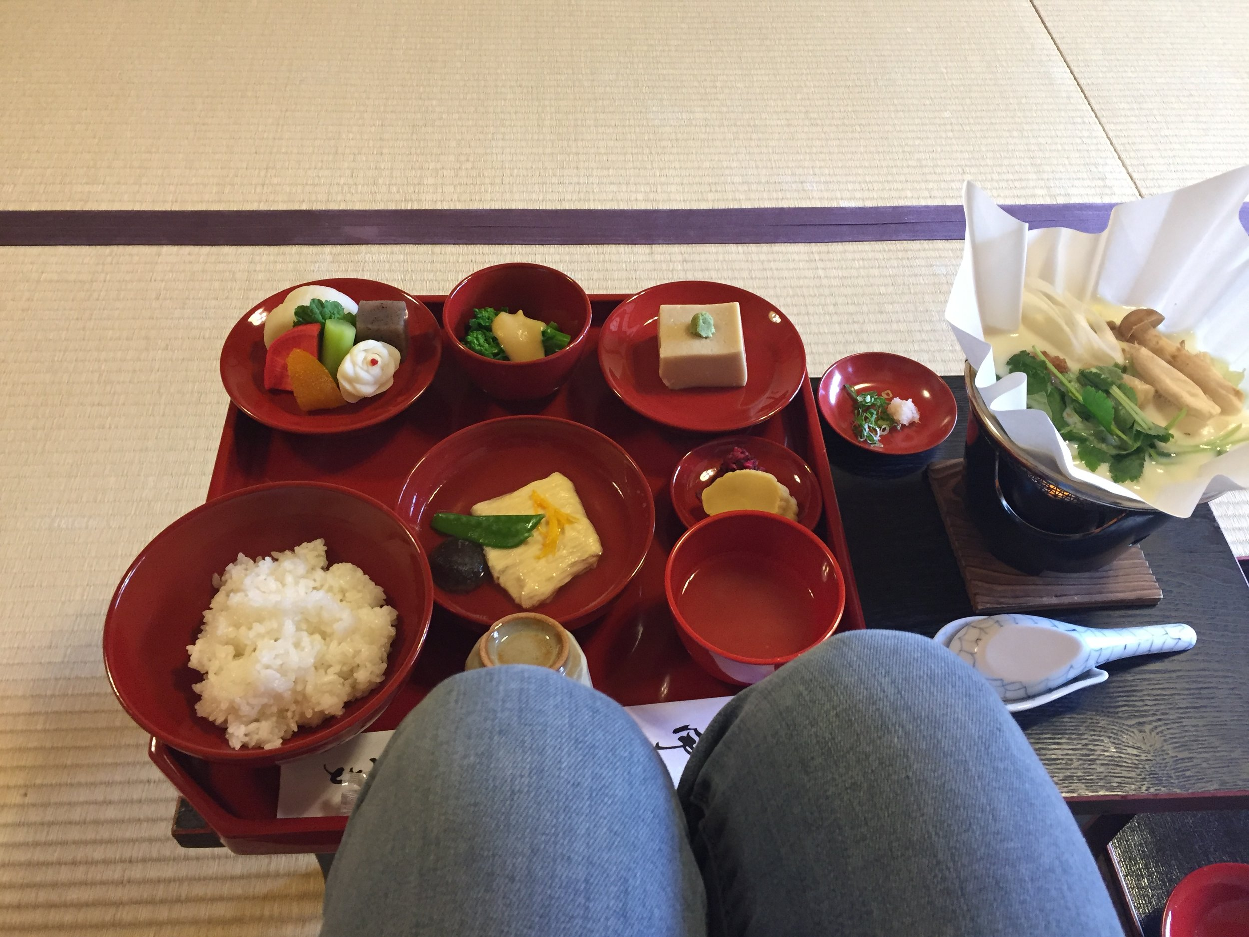vegan & gluten-free meal at Shigetsu in the Arashiyama area of Kyoto. plant-based!