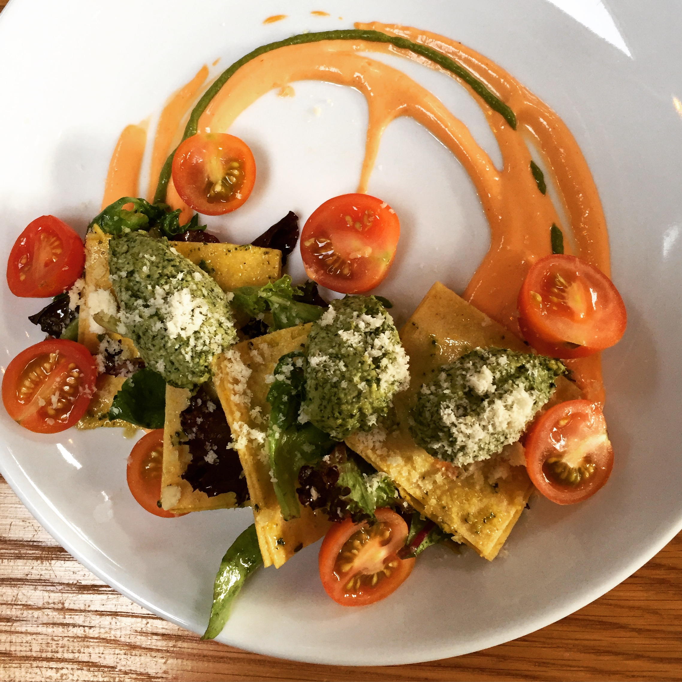 Raw Ravioli from The Springs restaurant in Los Angeles, CA (now Closed)
