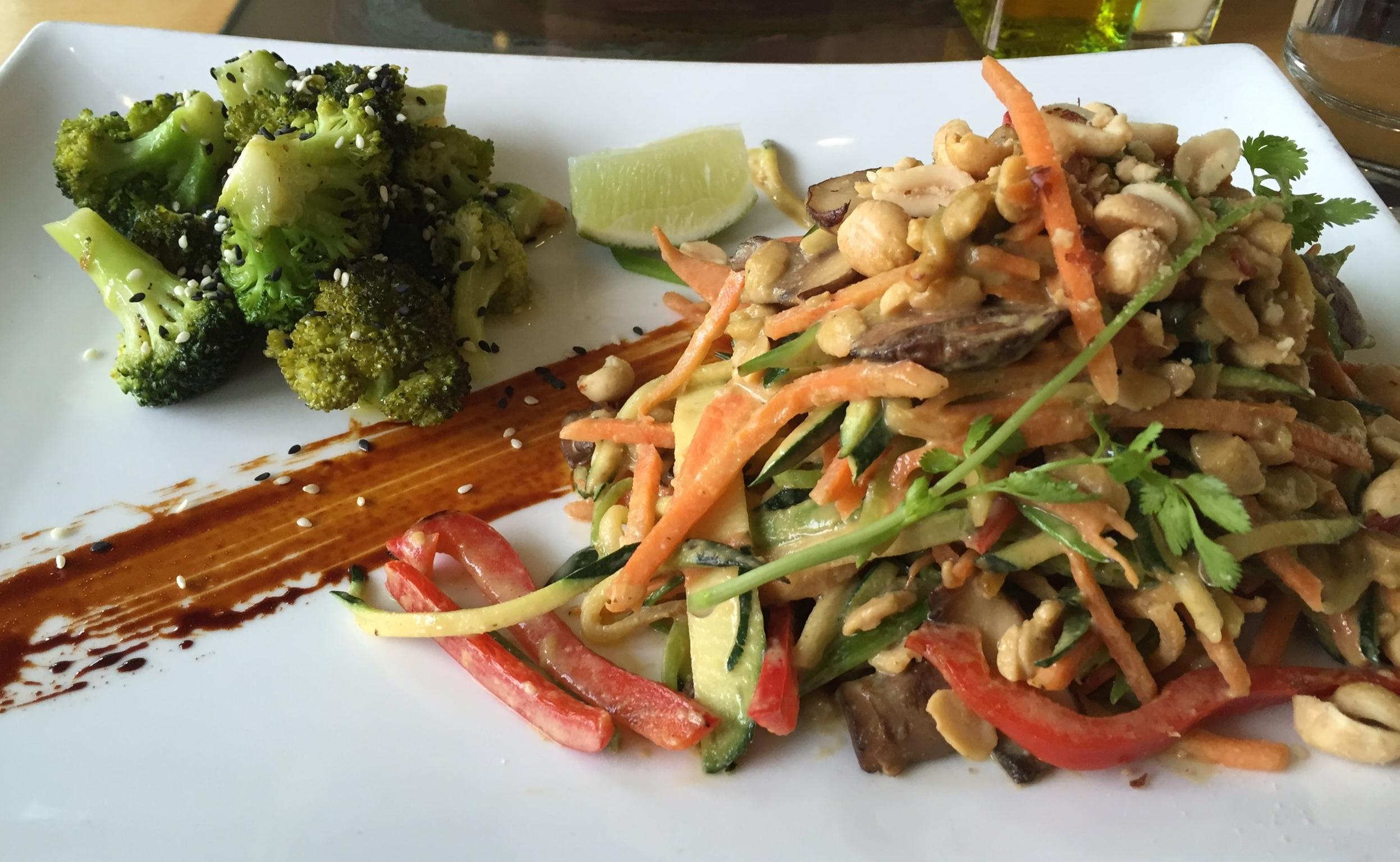 Zuchinni Pad Thai From leaf restaurant in Boulder, colorado