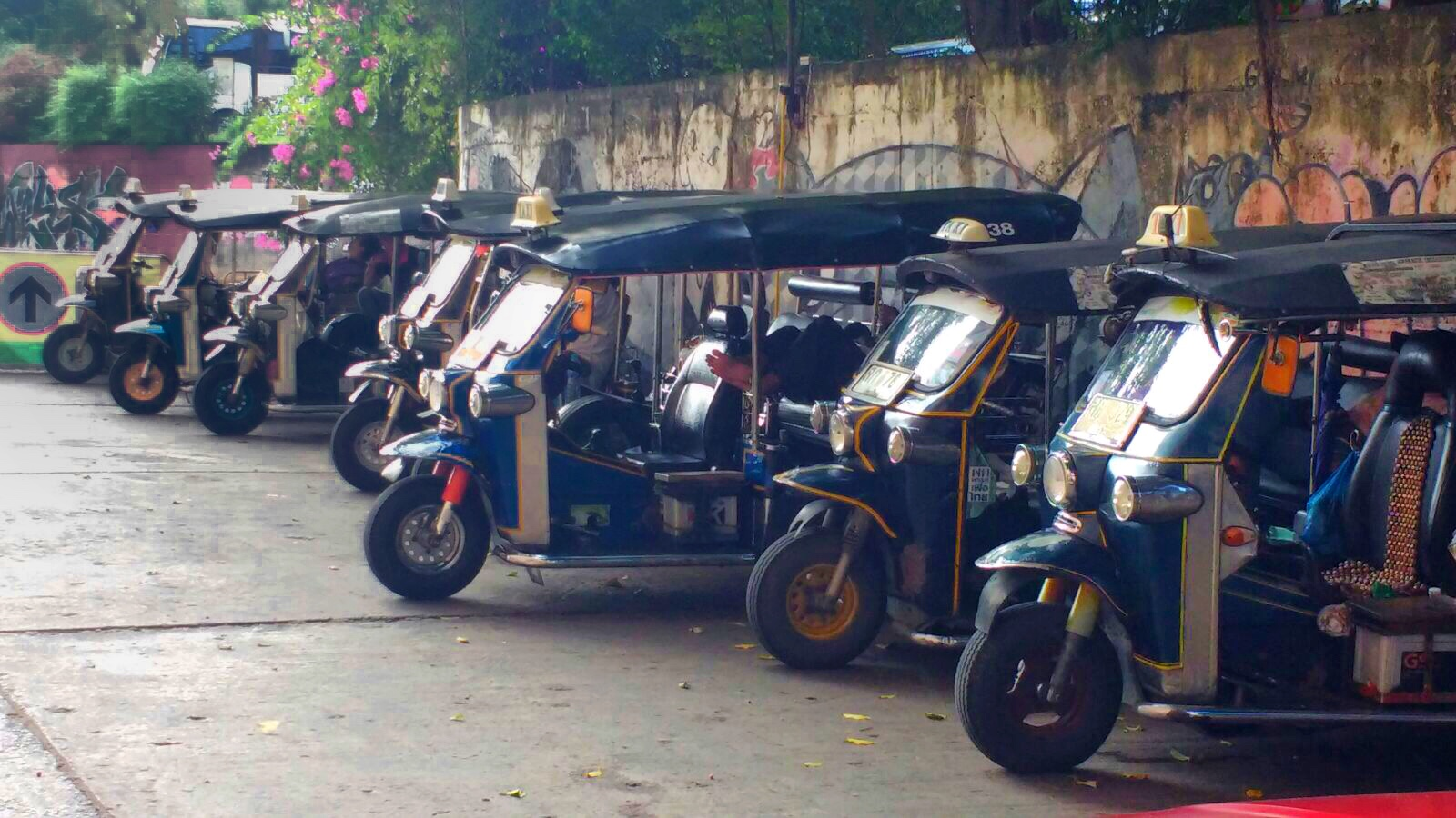 Tuk Tuk in Chiang Mai Thailand. An easy way to get around.