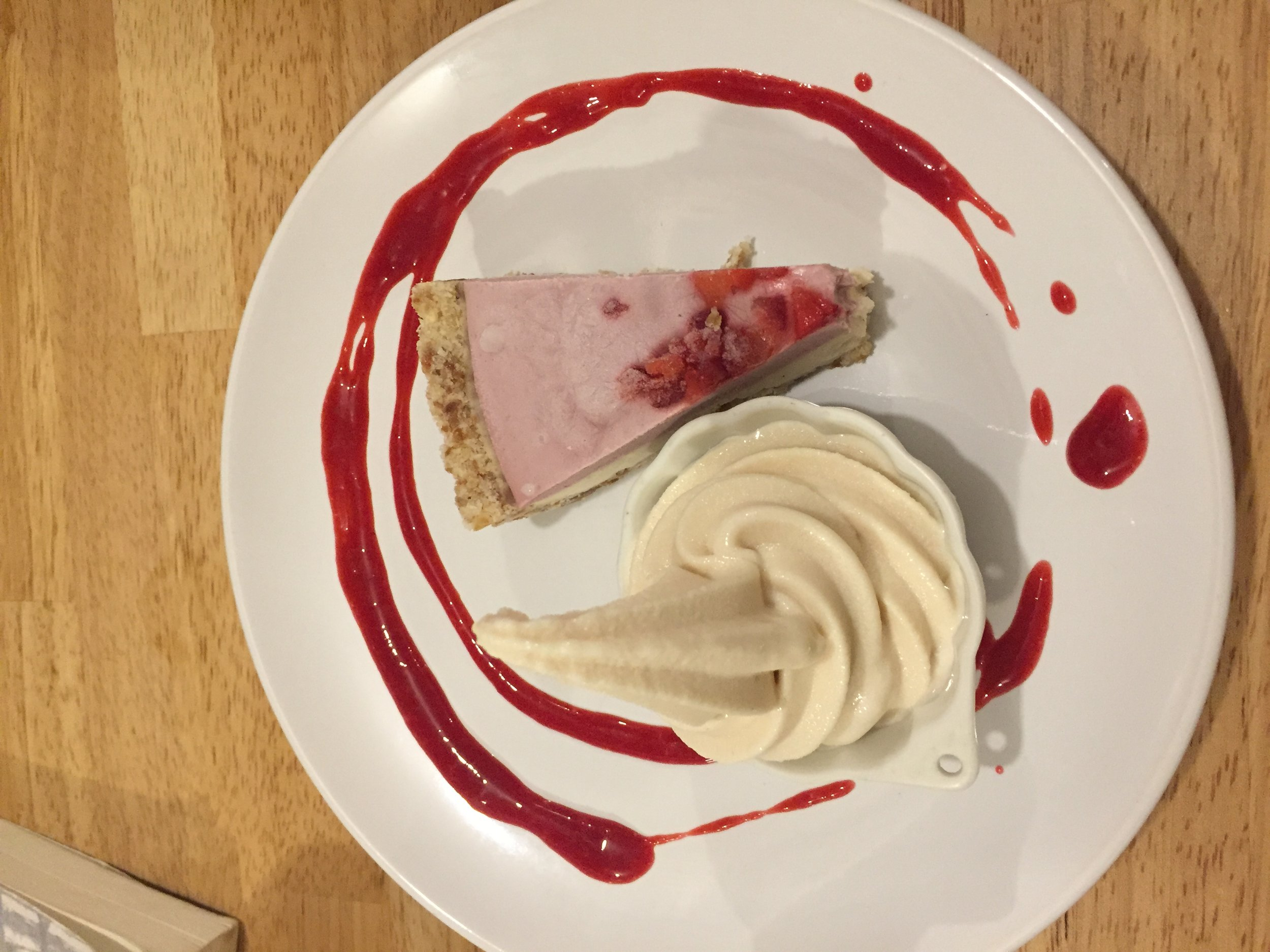 raw, vegan, gluten free plant-based dessert pie in Osaka Japan