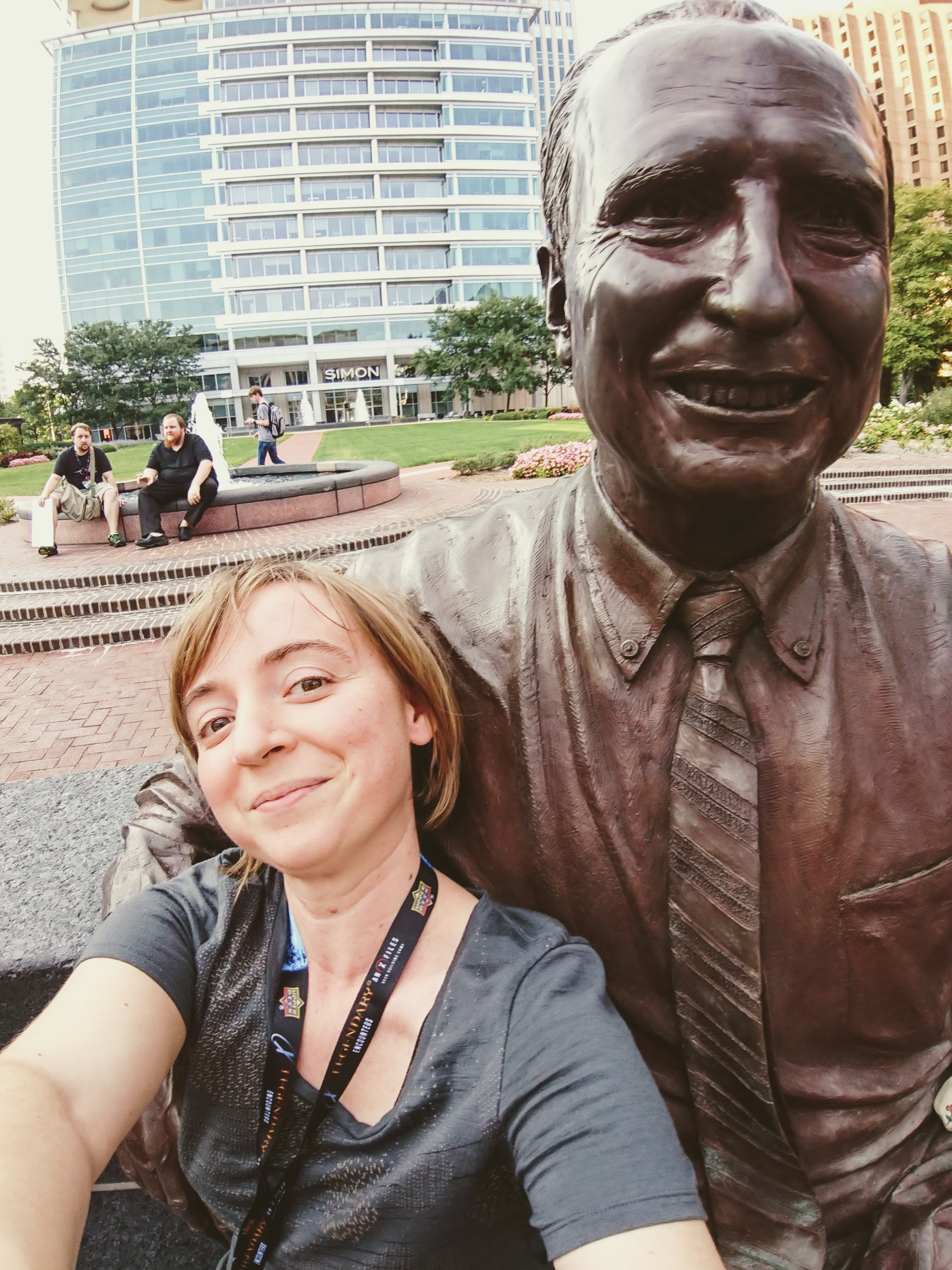 Aug 4 - Digital  Statue selfie