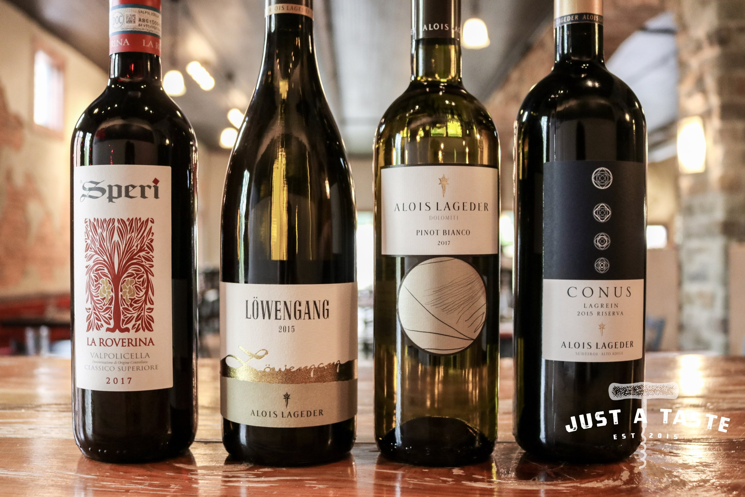 Alois Lageder Lowengang Chardonnay and Alois Lageder Conus Lagrein are featured for the May 2019 Jefferson Club at Just A Taste. Interested in acquiring these wines? Click   HERE!