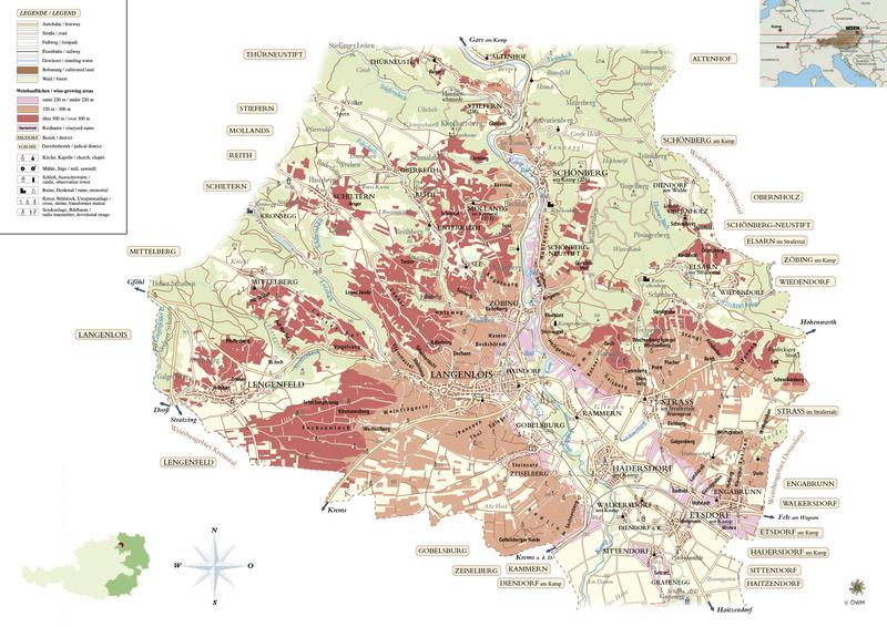 Map of Kamptal, Austria, courtesy of     AustriaWine.com  .