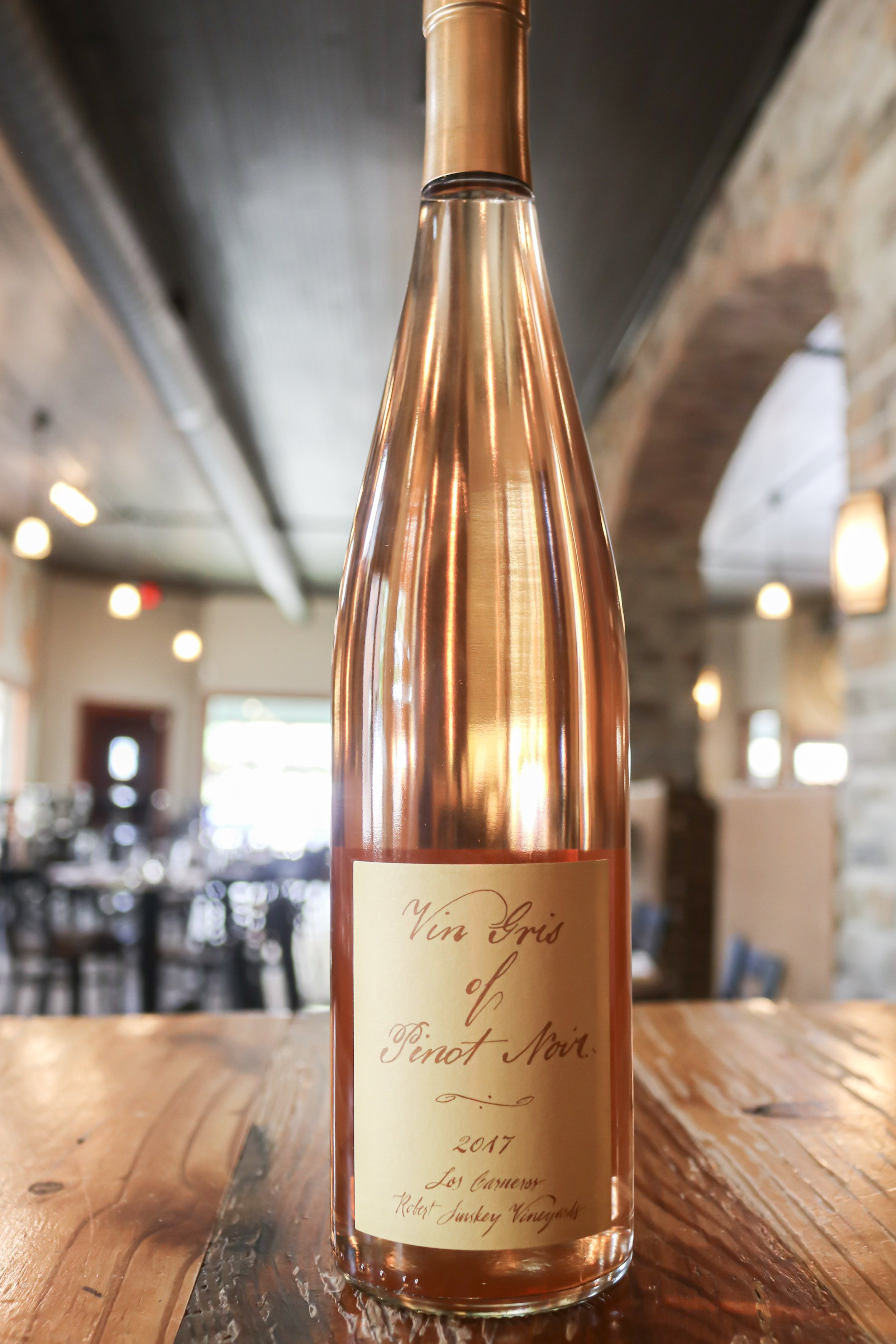 Robert Sinskey vin Gris - Wine Region: Carneros, CaliforniaGrape Varietals: Pinot NoirThree Tasting Notes: White strawberry, green apple, peachWhy I Like It: This is not your typical rosé, it has a unique gray/copper hue.Why You'll Like It: The vin Gris of Pinot Noir creates an elegant sipper made from the highest quality fruit.Price: $30