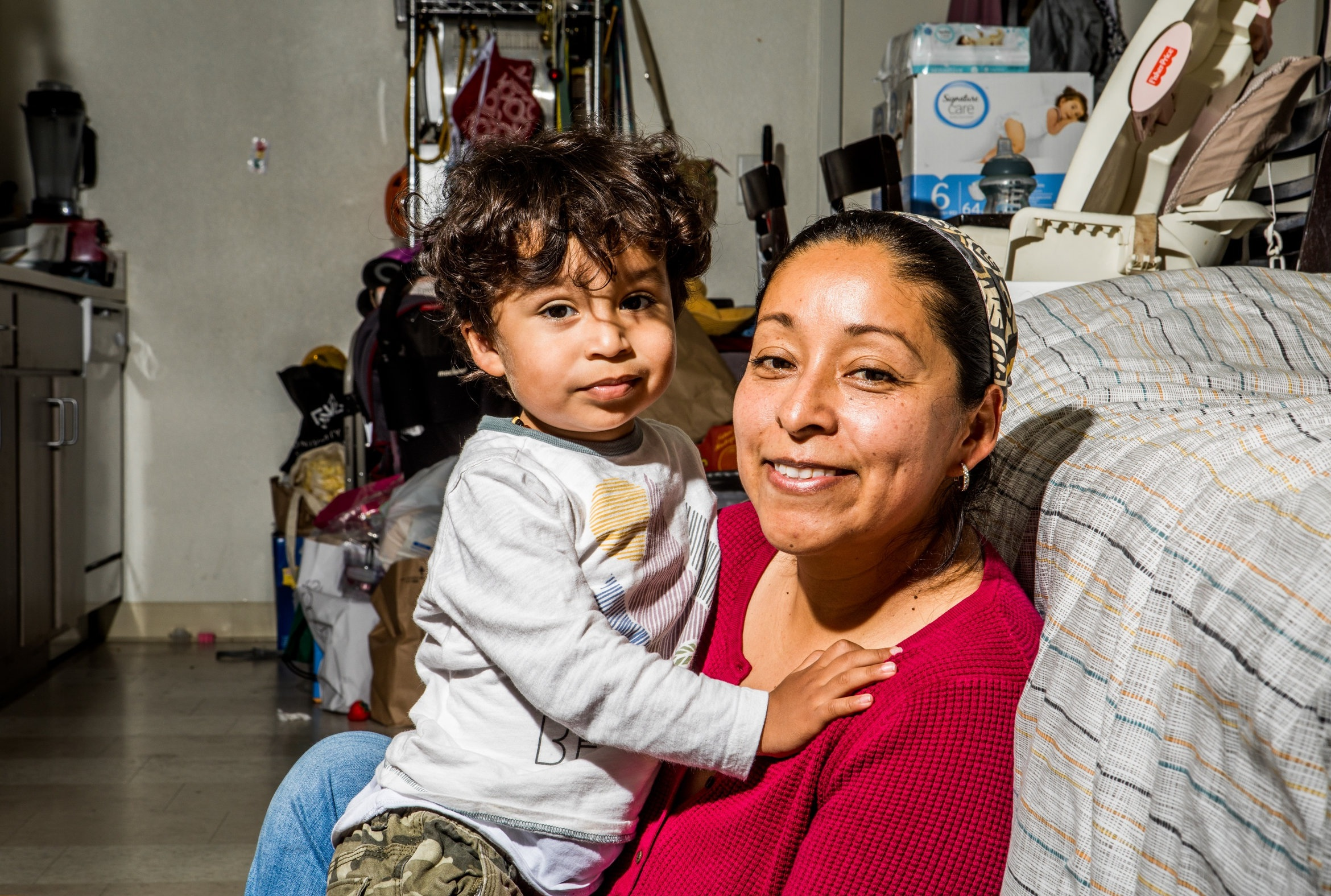 Tina and Carlos (24 mo./diaper size 6) live in a small San Francisco apartment and receive diapers from Help a Mother Out.