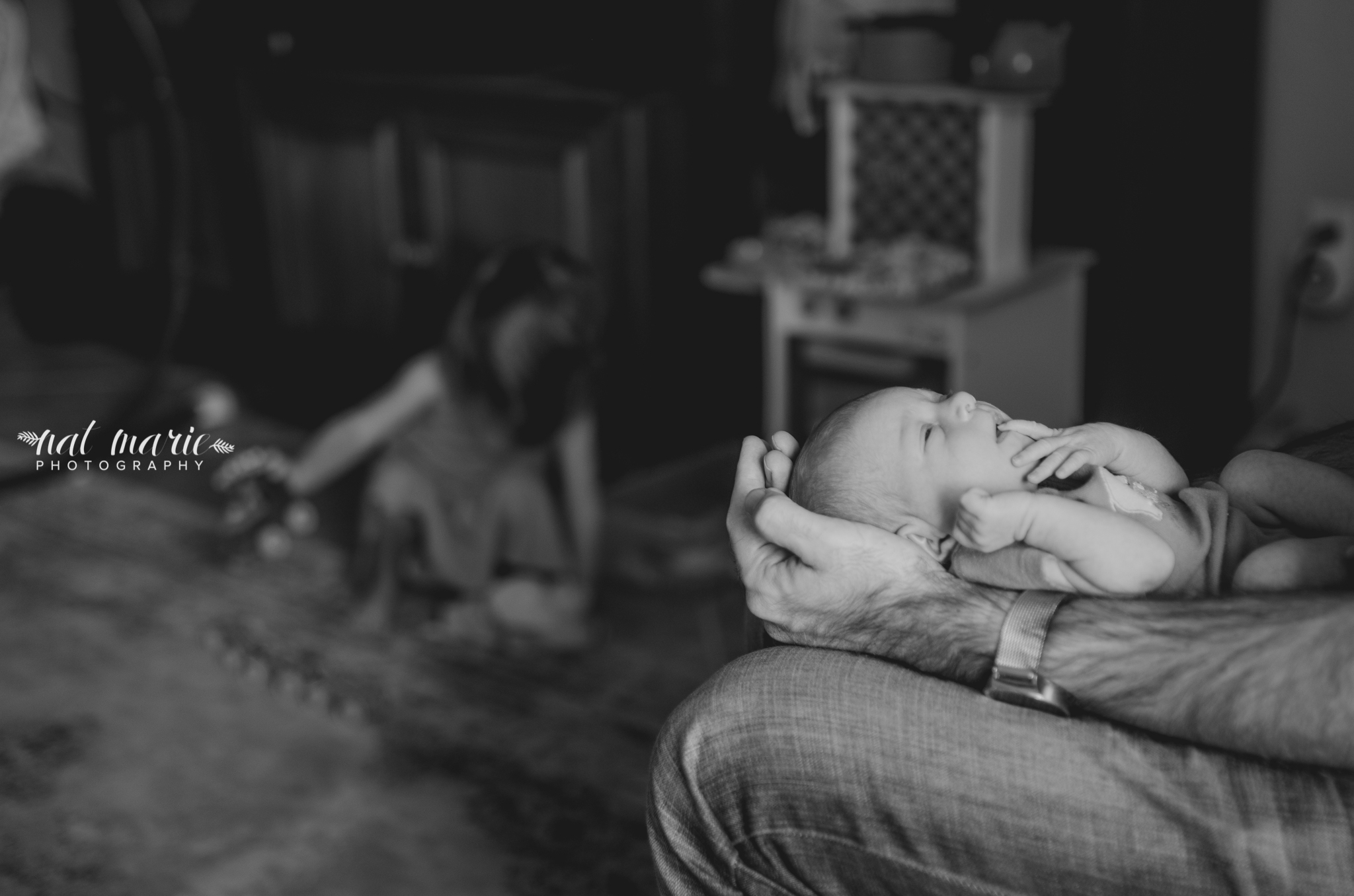 Lifestyle Newborn Session in Tempe with Nat Marie Photography
