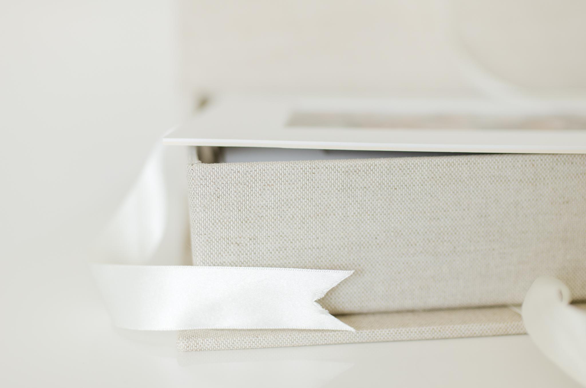 Heirloom Portrait Box with Ribbon Closure