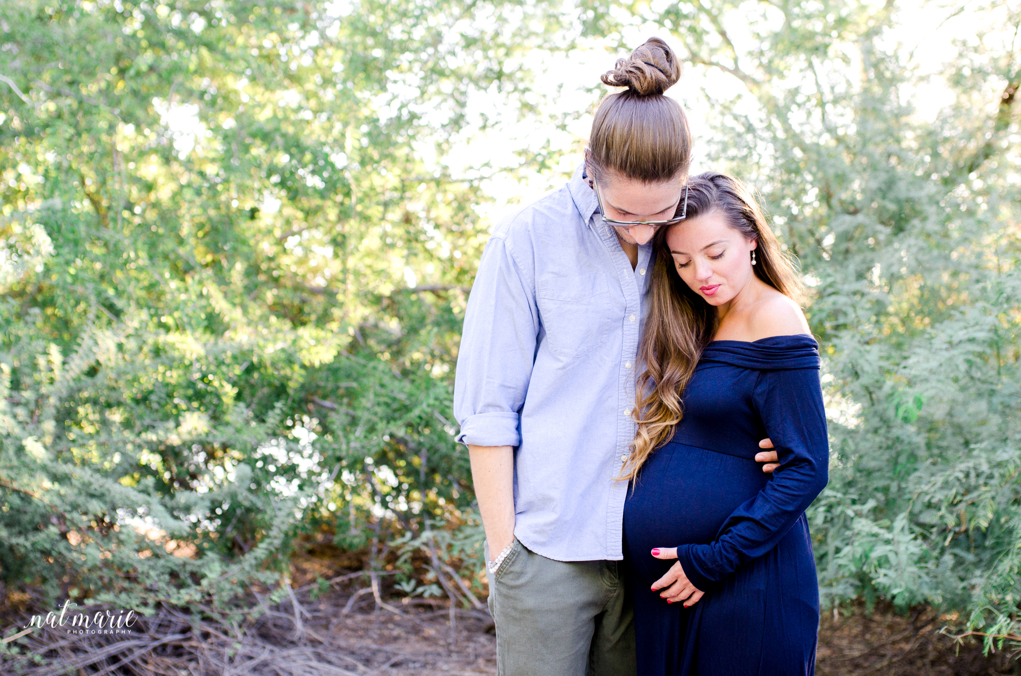 maternity session in gilbert arizona at sunset