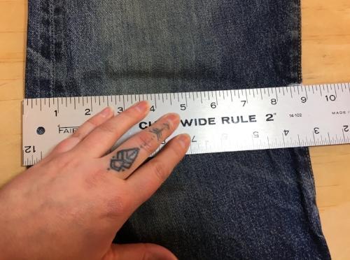 "Knee measurement is 9"" on this pair"