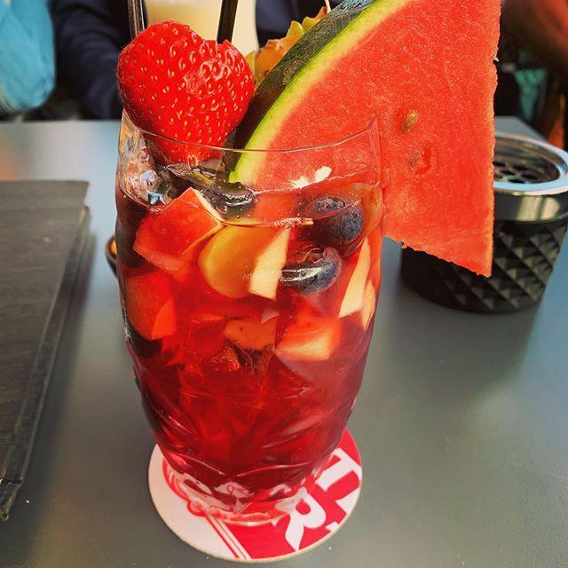 #summer = #sangria 🧶🍉🍇🍌🍒🍑🍑🍑🍒🍒🍓🍓🍉🍉