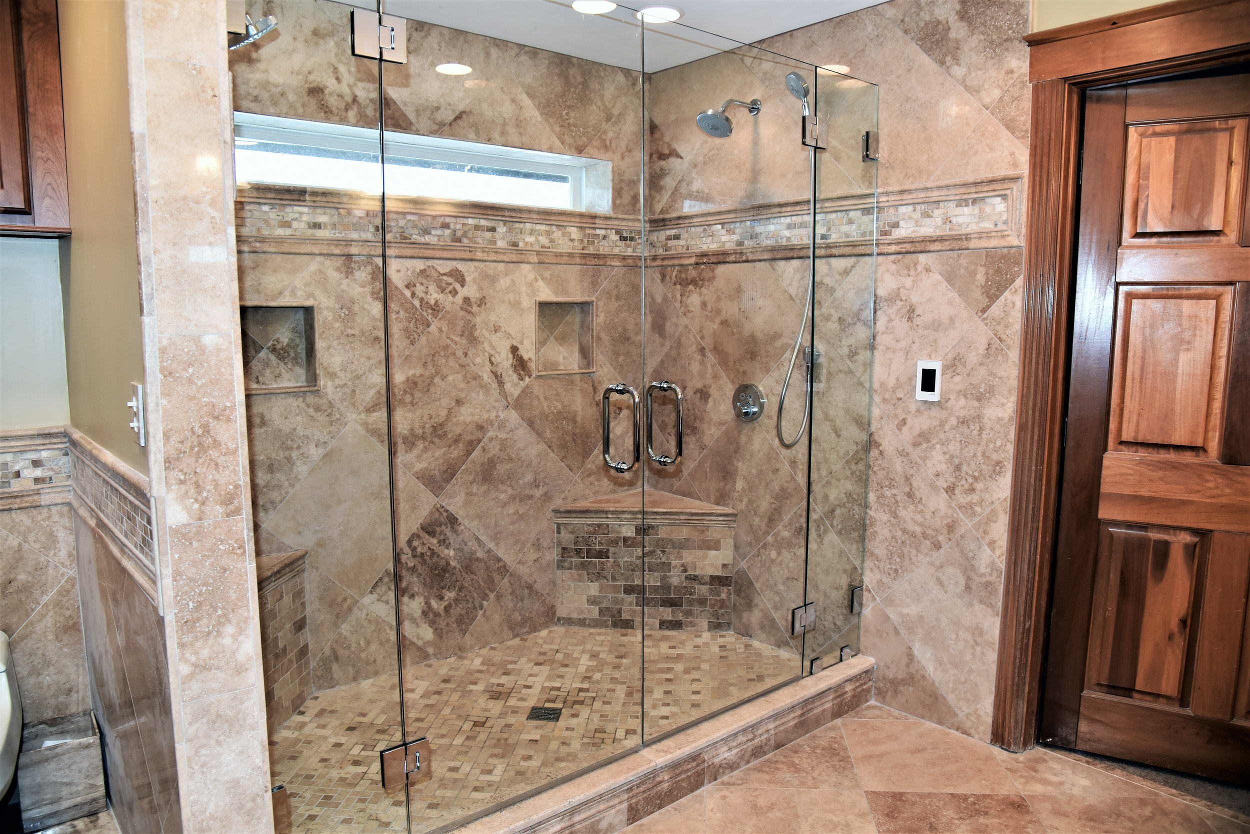 Massive Travertine Bathroom And Shower Elite Restoration Repair