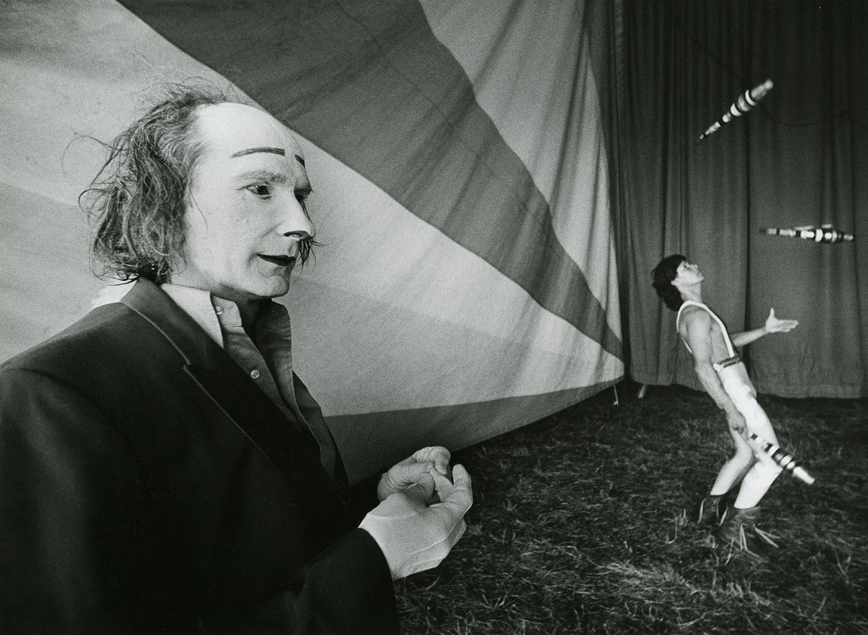 Circus clown and juggler