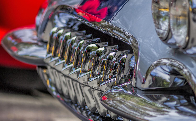 Grill of a 1960 Corvette