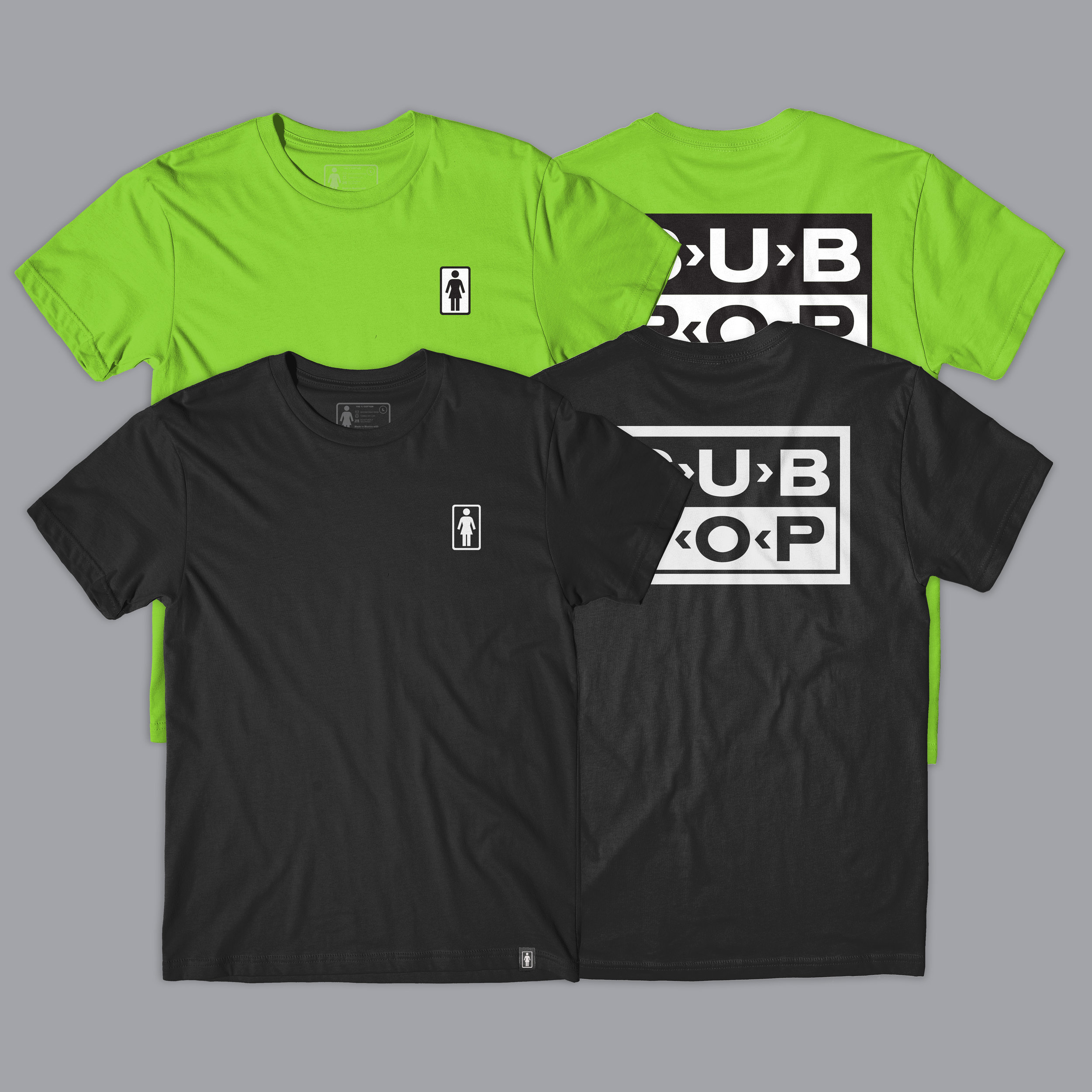 Girl Sub Pop Logo Tee.jpg