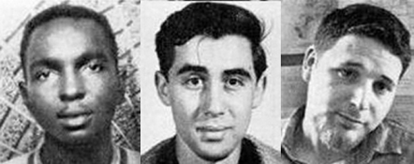 James Chaney, Michael Schwerner, and Andrew Goodman, three activists killed during Mississippi Freedom Summer Image Credit: Jewish Week