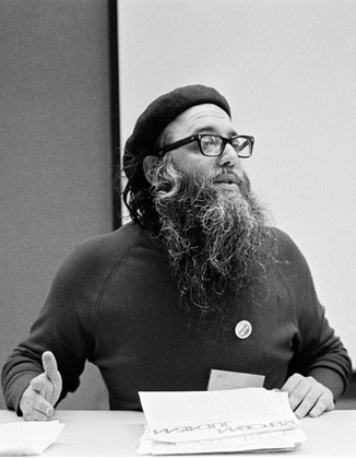Arthur Waskow, presenting at Breira's only conference in 1977. Image Credit: Tablet Magazine