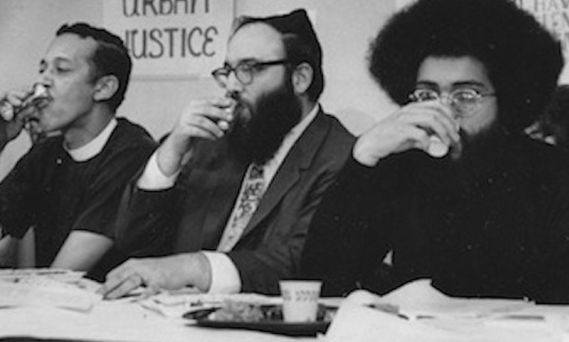 Arthur Waskow, pictured (center) at 1969's Freedom Seder, with Channing Phillips and Topper Carew