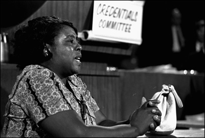 Fannie Lou Hamer, at the 1964 DNC, Image Credit: American Public Media