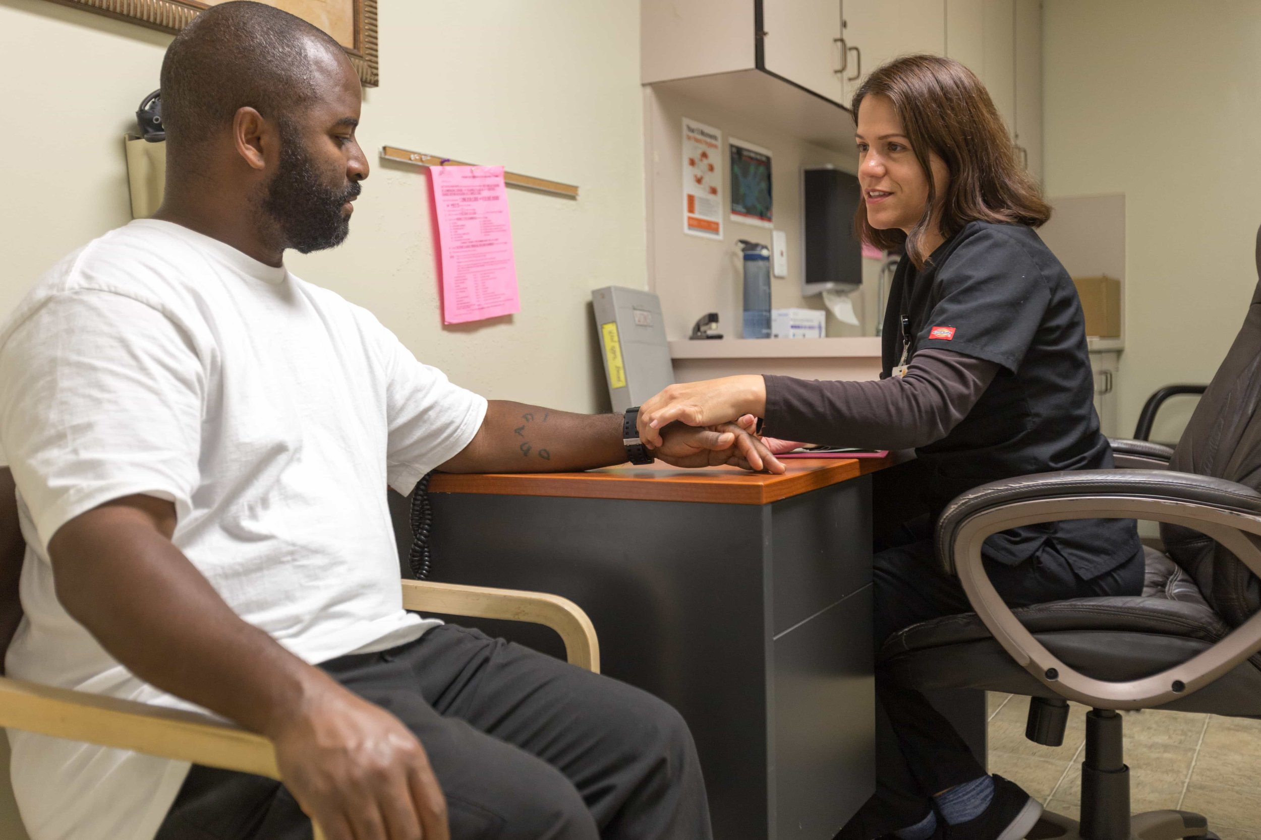 man with anxiety disorder getting treatment