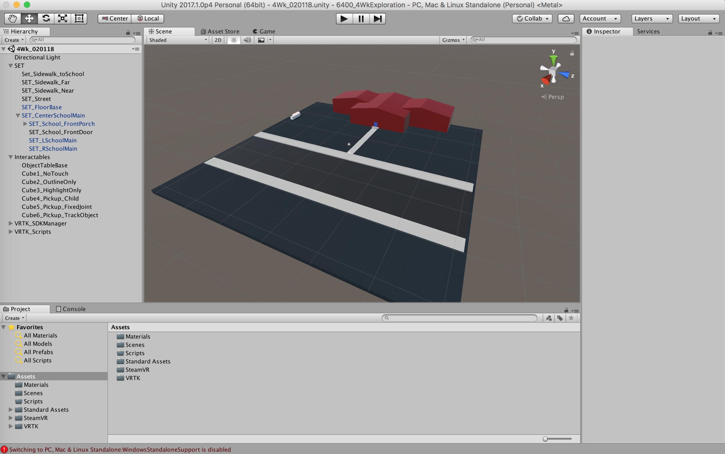 Screenshot of new Unity scene.