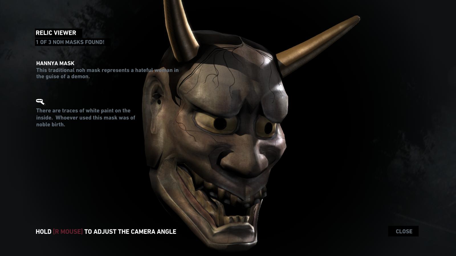 Tomb Raider artifact screen.  Source
